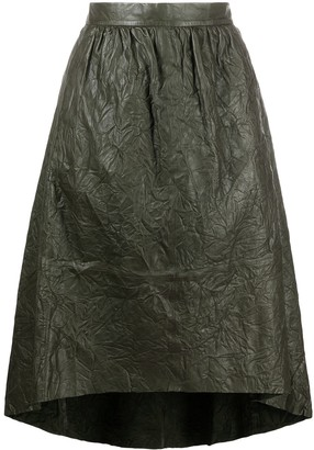 Zadig & Voltaire Crinkled Leather Skirt