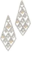 Alexis Bittar Crystal Spiked Lattice Earrings