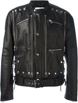Faith Connexion studded leather jacket - men - Cotton/Leather/Polyester - M