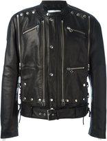 Faith Connexion studded leather jacket - men - Cotton/Polyester/Leather - M