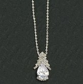 Gc Handcrafted Silver and Crystal Elegant Design Pendant Necklace