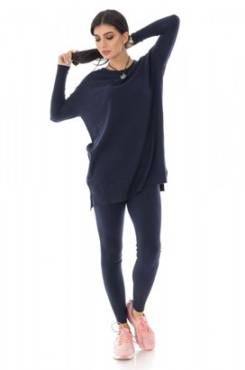 Aimelia Soft two-piece lounge suit, Navy