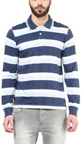 American Crew Men's Polo Collar Stripes T-Shirt -XXL (AC055FS-XXL)