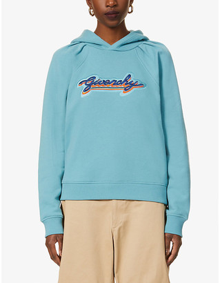 Givenchy Logo-embroidered cotton-jersey hoody