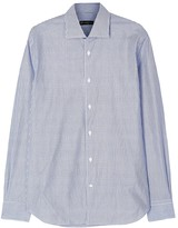 Corneliani Blue Striped Cotton Shirt