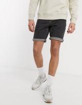 Asos Design DESIGN slim denim shorts in retro black