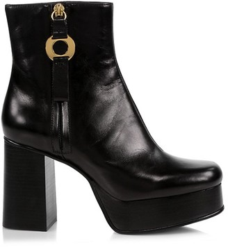 See by Chloe Jenny Leather Platform Ankle Boots