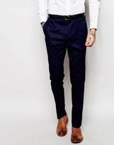 Asos Slim Suit Pants In Navy