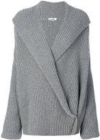 Jil Sander - wrap knitted sweater -