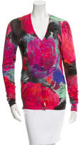 Christopher Kane Printed Silk Cardigan