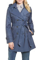 Halogen Detachable Hood Trench Coat (Petite)