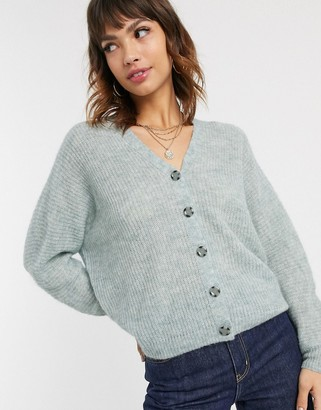 Esprit lofty knit cardigan in dusty green