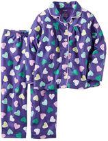 Carter's Toddler Girl Button-Down Top & Bottoms Pajama Set