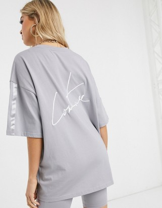 The Couture Club oversized t-shirt in gray