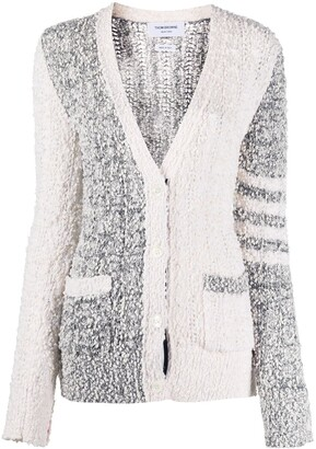 Thom Browne Fun-Mix boucle cardigan