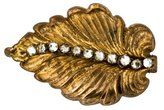Miriam Haskell Crystal Leaf Pin