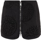 Isabel Marant Rilzen embroidered denim miniskirt