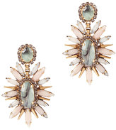 Elizabeth Cole Statement Sage Blush Earrings