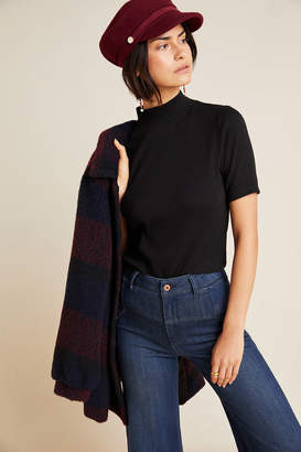 Threads For Thought Sabine Ribbed Mock Neck Top