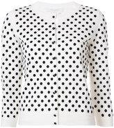 Marc Jacobs polka dot cropped sleeve cardigan - women - Nylon/Wool - XS