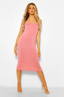 boohoo Square Neck Bodycon Midi Dress