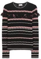 RED Valentino Striped knitted sweater