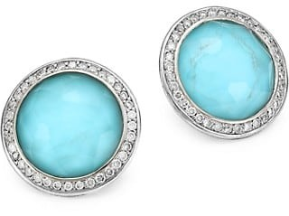 Ippolita Lollipop Small Sterling Silver, Doublet & Diamond Stud Earrings