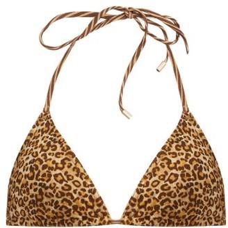 Zimmermann Empire Leopard-print Bikini Top - Brown Multi