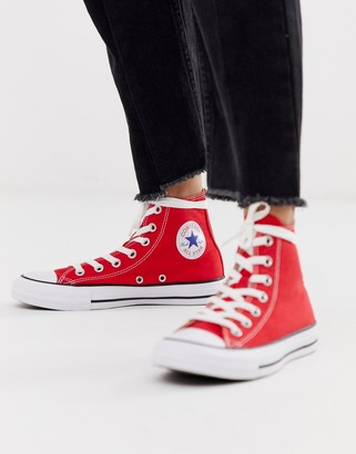 Converse Chuck Taylor Hi red sneakers