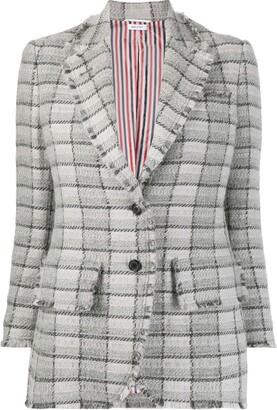 Thom Browne Check-Pattern Tweed Jacket