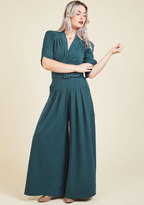 Miss Candyfloss The Embolden Age Jumpsuit in Teal in 3X