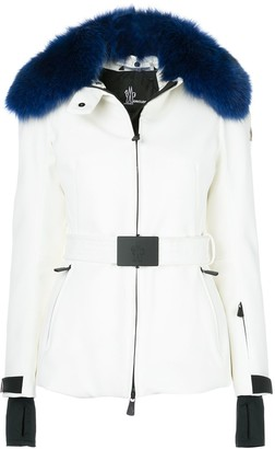 Moncler belted fitted jacket