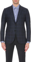 Armani Collezioni Check-print Wool-blend Jacket