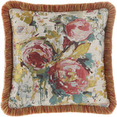 Sweet Dreams Anna Maria Floral Boutique Pillow with Brush Fringe