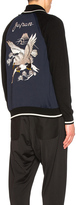 Junya Watanabe Polyester & Wool Jersey Eagle Pattern Embroidered Jacket