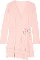 Skin - Grace Ruffled Pima Cotton Robe - Pastel pink