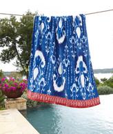 John Robshaw Vaya Indigo Blue Beach Towel