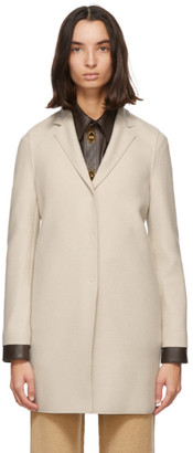 Harris Wharf London Off-White Pressed Wool Coat