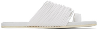 MM6 MAISON MARGIELA White Multi Strap Toe Sandals