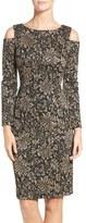 Eliza J Petite Women's Metallic Knit Sheath Dress