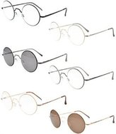 Eyekepper 6-Pack Spring Hinges Round Sunglasses Eyeglasses