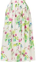 MDS Stripes Floral-print Cotton-poplin Maxi Skirt