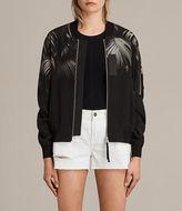 AllSaints Harlow Neluwa Silk Bomber Jacket