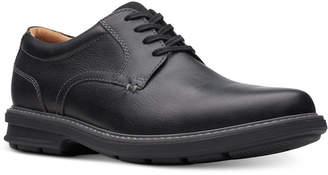Clarks Men Rendell Plain Black Leather Casual Oxfords Men Shoes