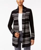 Style&Co. Style & Co Petite Jacquard Sweater Coat, Only at Macy's