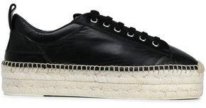 McQ Leather Platform Espadrille Sneakers
