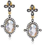 Freida Rothman Double Crown Drop Earrings