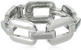 GUESS Frozen Chain Hinge Silver Bangle Bracelet