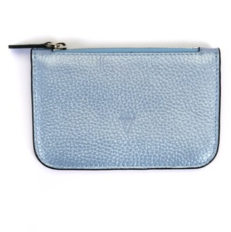 Atelier Hiva Alae Leather Wallet Metallic Baby Blue