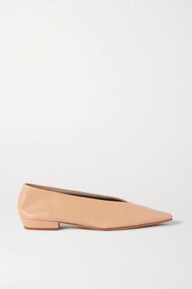 Bottega Veneta Leather Ballet Flats - Neutral